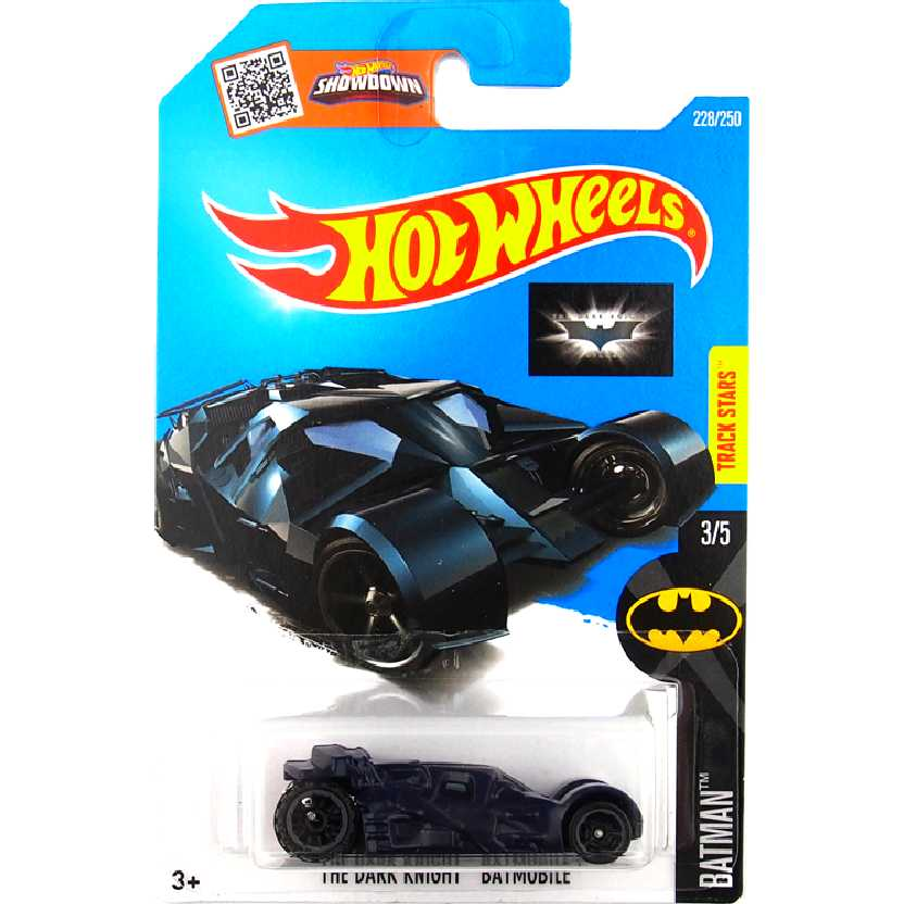 2016 Hot Wheels The Dark Knight Batmobile Tumbler series 3/5 228/250 DHX78 escala 1/64