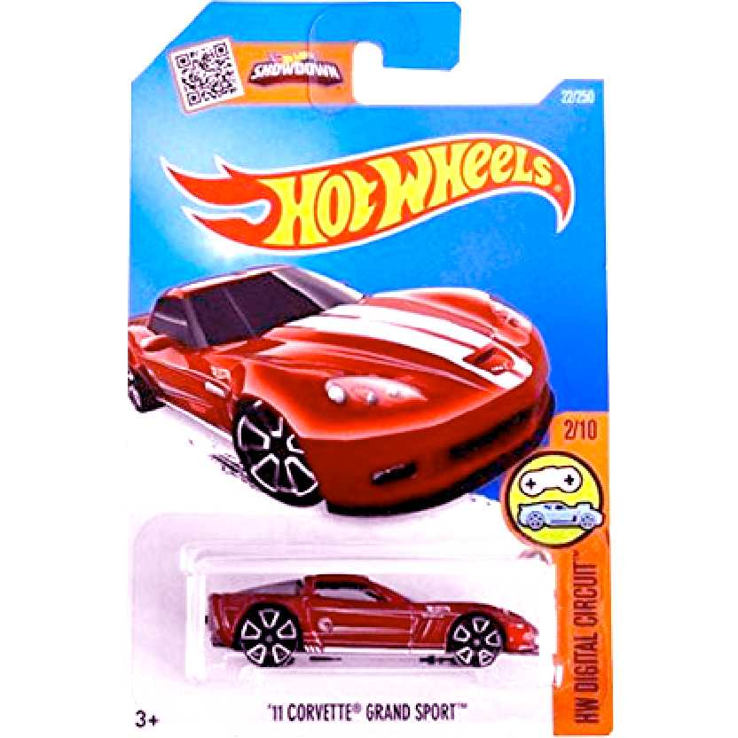 2016 Hot Wheels Treasure Hunt 11 Corvette Grand Sport series 2/10 22/250 DHP53 escala 1/64