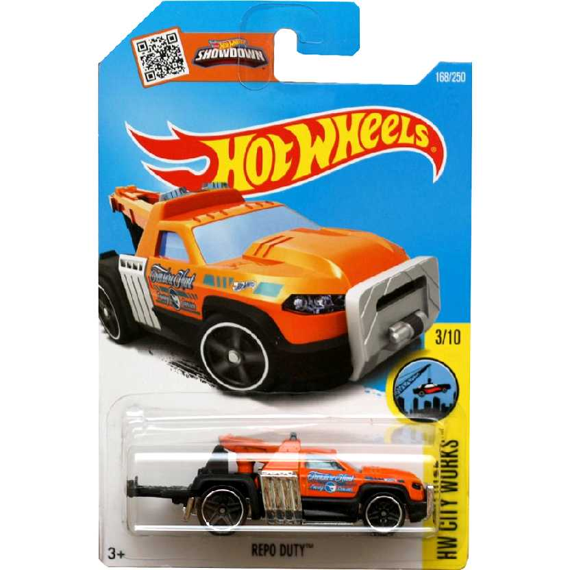 2016 Hot Wheels Treasure Hunt Guincho Repo Duty 3/10 168/250 DHR68 escala 1/64