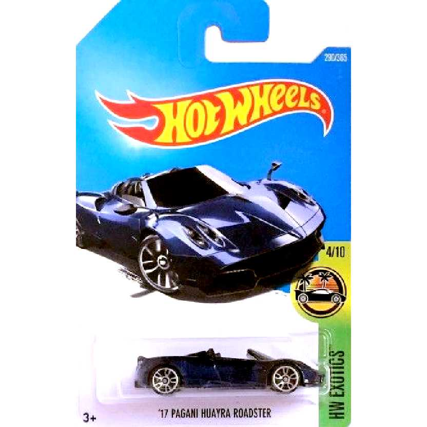 2017 Hot Weels 17 Pagani Huayra Roadster series 4/10 290/365 DTW86 escala 1/64
