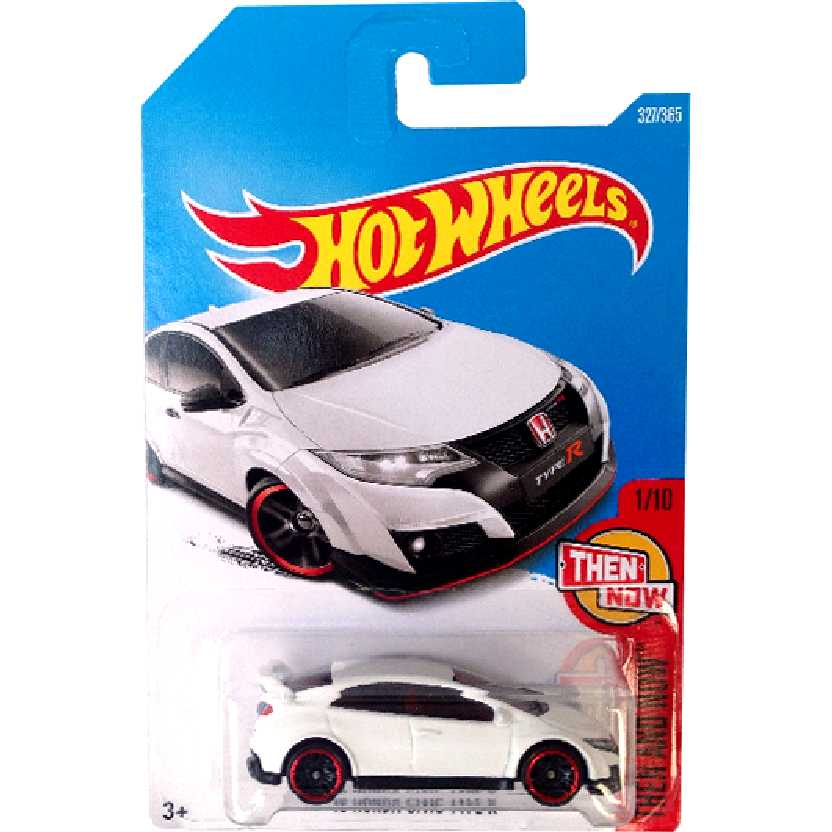 2017 Hot Wheels 16 Honda Civic Typer R series 1/10 327/365 DTW88 escala 1/64