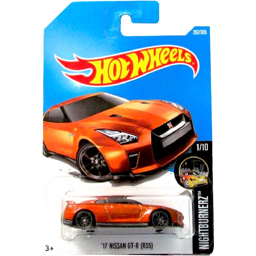 2017 Hot Wheels 17 Nissan GT-R (R35) series 1/10 282/365 DTW99 escala 1/64