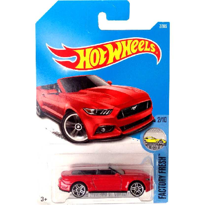 2017 Hot Wheels 2015 Ford Mustang GT Convertible series 2/10 7/365 DTW81 escala 1/64