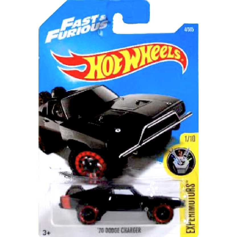 2017 Hot Wheels 70 Dodge Charger Fast & Furious series 1/10 4/365 DTW97 escala 1/64