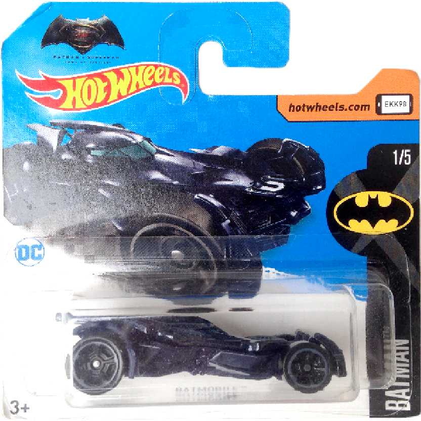 2017 Hot Wheels Batman V Superman Dawn of Justice Batmobile 1/5 329/365 DVC14 1/64