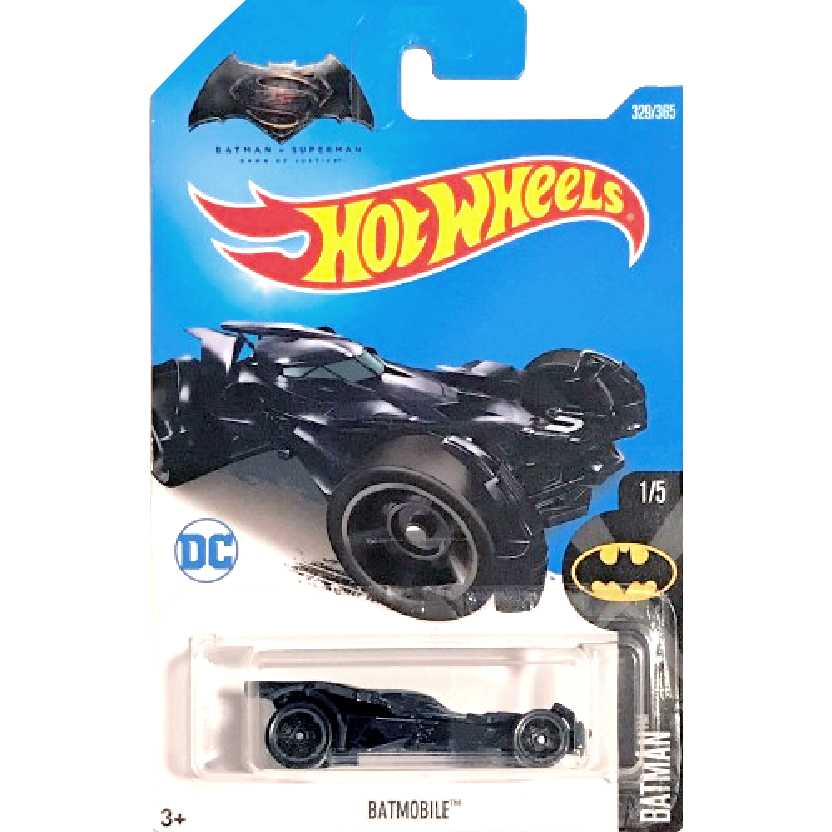 2017 Hot Wheels Batman vs Superman Batmóvel / Batmobile 1/5 329/365 DVC14 1/64