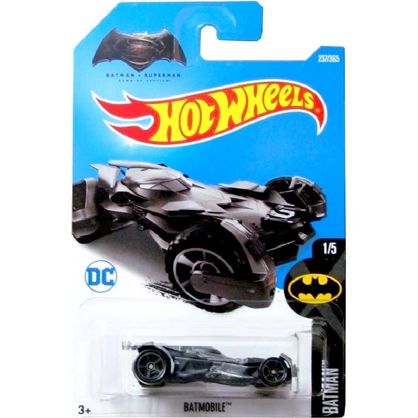 2017 Hot Wheels Batman vs Superman Batmobile (Batmóvel) 1/5 237/365 DTY45 escala 1/64
