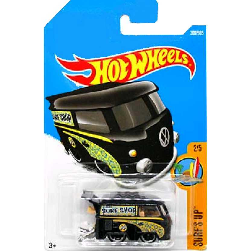 2017 Hot Wheels Kool Kombi preta series 2/5 302/365 DTY42 escala 1/64