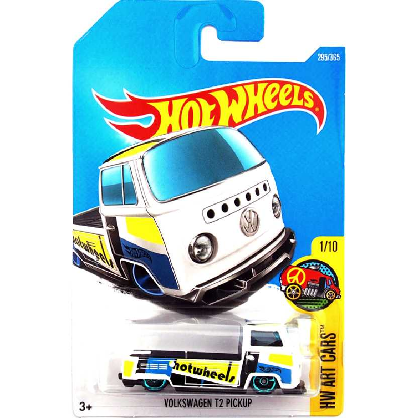 2017 Hot Wheels Pickup VW Kombi Volkswagen T2 Pickup 1/10 295/365 DVB78 escala 1/64