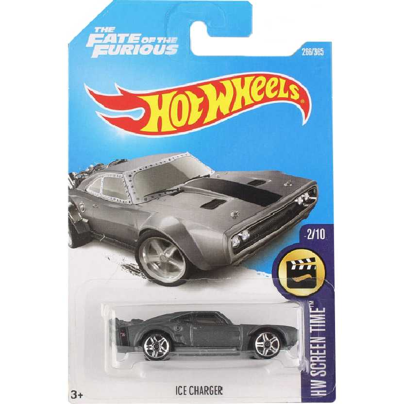 2017 Hot Wheels Velozes e Furiosos 8 Ice Charger series 2/10 266/365 DTW96 escala 1/64