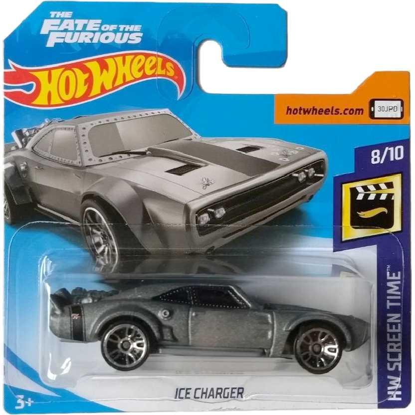 2018 Hot Wheels Velozes e Furiosos 8 Ice Charger 79/365 8/10 FJW40 escala 1/64 Baleado