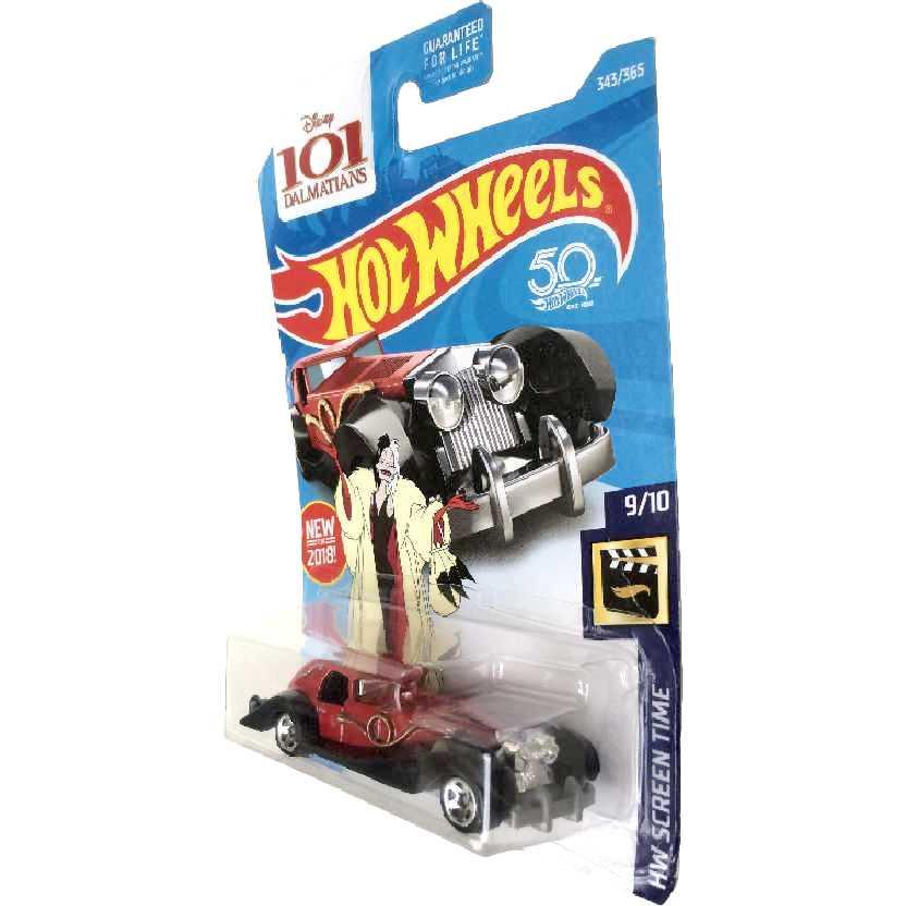 2019 Hot Wheels Disney 101 Dálmatas Cruella De Vil series 343/365 FJW04 escala 1/64