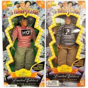 3 Bonecos Articulados Os Tres Patetas ( Three Little Pigskins ) Moe, Larry e Curly