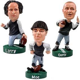 3 Bonecos dos 3 Três Patetas :: The Three Stooges Head Knocker Bobble Head