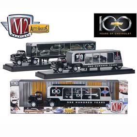 3 Miniaturas de Caminhões e Carretas M2 Machines 1/64 Auto Hauler série 2 R2 36000