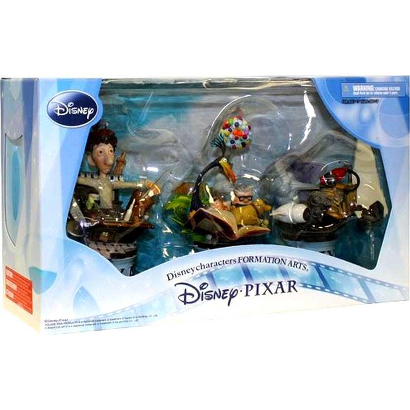 3 Miniaturas Disney Filmes ( Up Altas Aventuras, Ratatouille e Wall-E )