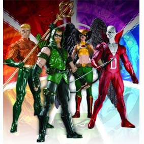 4 Bonecos DC Comics Brightest Day série 1 / DC Direct Brightest Day Series 1