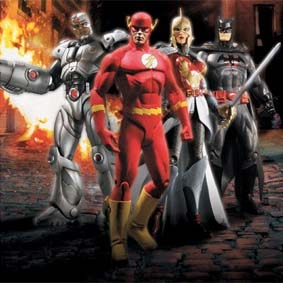 4 Bonecos DC Universe Flashpoint série 1 :: DC Direct Flashpoint series 1