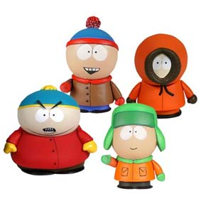 4 Bonecos do South Park Minis Box set Mezco Toyz :: Boneco Cartman, Kenny, Stan, e Kyle
