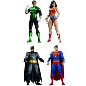 4 Bonecos JLA Justice League Classic Icons series 1 Coleção Liga da Justiça