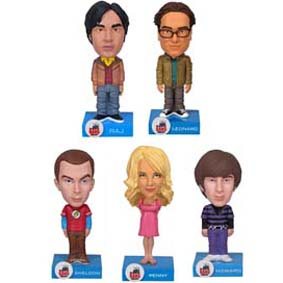 5 Bonecos The Big Bang Theory Funko Bobble-Head Wacky Wobbler