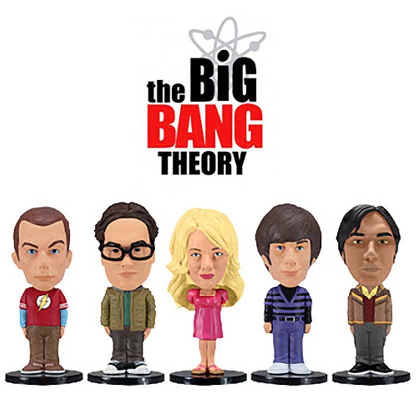 5 Bonecos The Big Bang Theory ( Sheldon Cooper, Leonard, Penny, Howard e Rajesh )