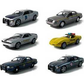 6 Carrinhos da Greenlight Hot Pursuit série 3 R3 29680 escala 1/64