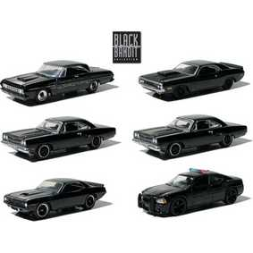 6 Carrinhos Greenlight Black Bandit Mopar série 6 R6 27655 escala 1/64