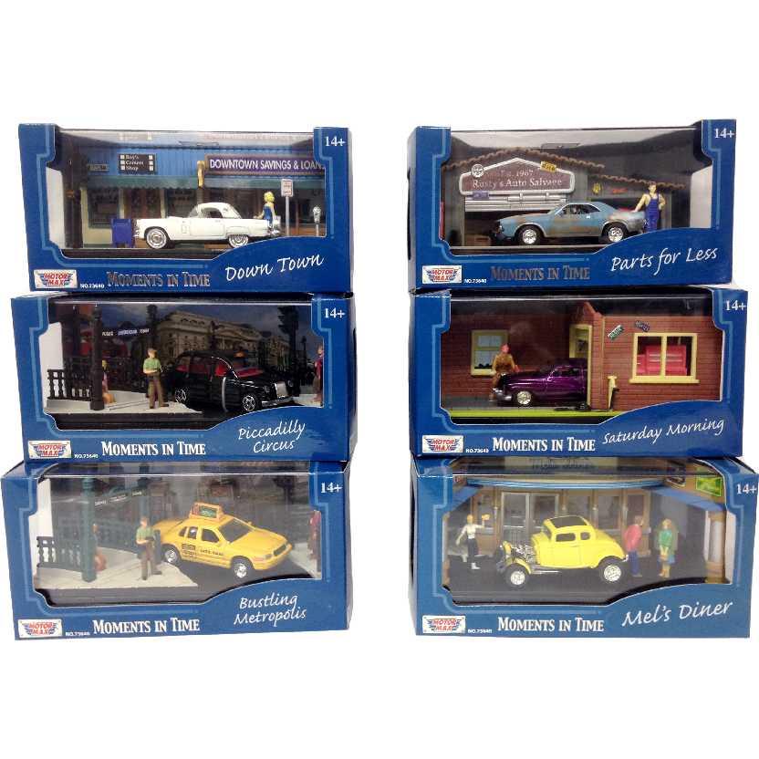 6 Dioramas na escala 1/64 com caixa de acrílico marca MotorMax