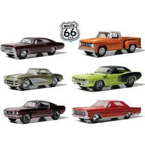 6 Greenlight Miniaturas escala 1/64 Route 66 USA série 1 R1 29700