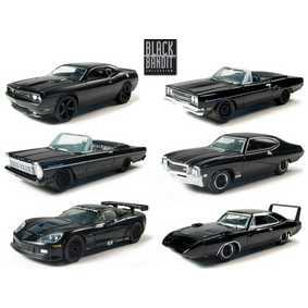 6 Miniaturas da Greenlight Black Bandit série 4  R4 27640 escala 1/64