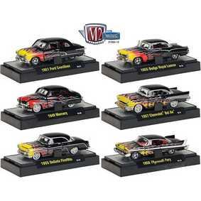 6 Miniaturas da M2 Machines Auto-Thentics série 12 R12 31500 escala 1/64