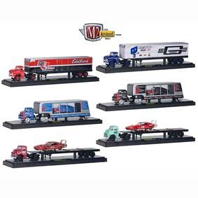 6 Miniaturas de Caminhões e Carretas M2 Machines 1/64 Auto Hauler série 1 R1 36000
