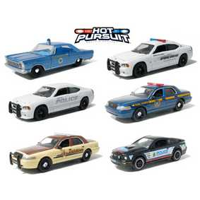 6 Miniaturas Greenlight Hot Pursuit série 5  R5 42620 escala 1/64 Police