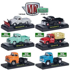 6 Miniaturas M2 Machines escala 1/64 Auto-Thentics série 15 R15 31500