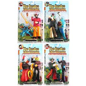 8 Bonecos The Beatles Yelllow Submarire Sgt Peppers Mcfarlane Toys (RARO)