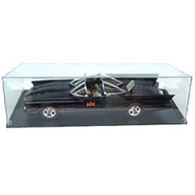 Batmobile TV (cx. de acrílico e pneu de borracha) Batmóvel com Batman e Robin