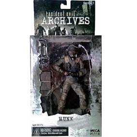 Action Figures Resident Evil Archives série 3 Hunk (Biohazard) Neca Toys