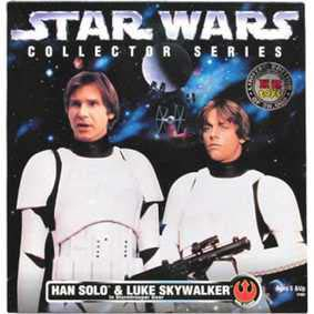 Action Figures Star Wars Han Solo e Luke Skywalker Stormtrooper Gear