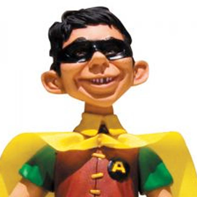 Alfred E. Newman MAD ( Robin ) Just Us League of Stupid Heroes Action Figure