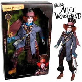 Alice In Wonderland - Mad Hatter (Johnny Depp) Boneco Chapeleiro Maluco Mattel