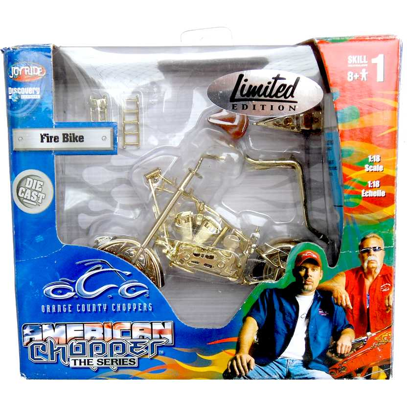 American Chooper The Series - Fire Bike Gold escala 1/18 - Orange County Choopers