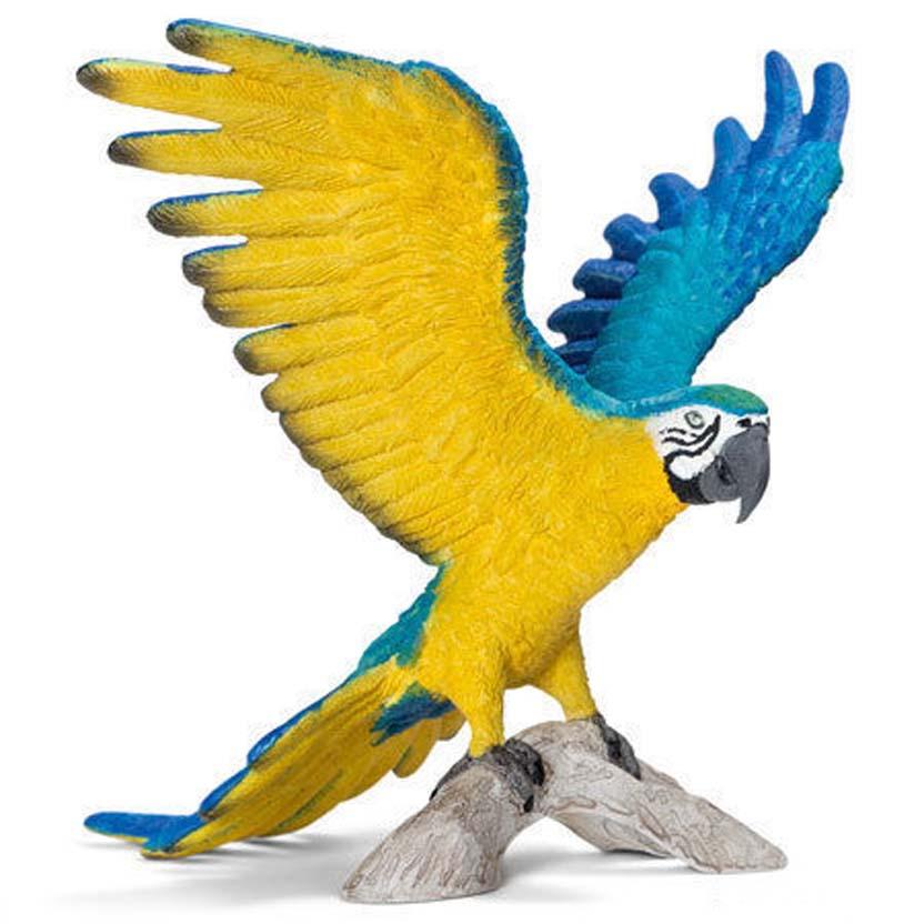 Arara-azul-e-amarela 14690 - novidades Schleich 2013