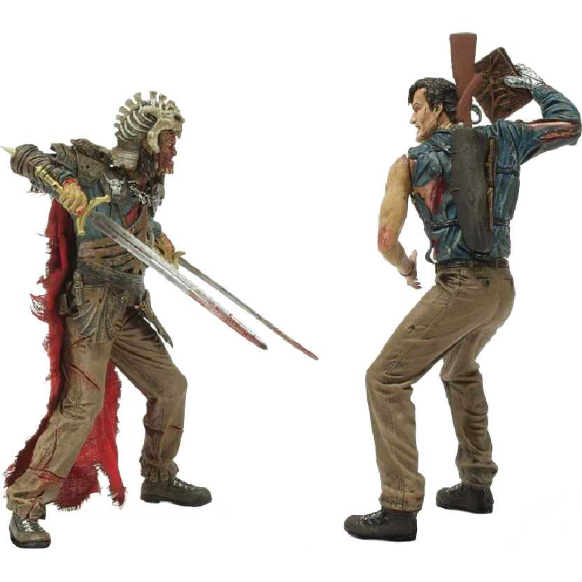 Army of Darkness Ash X Evil Ash Action Figure 2 Pack Movie Maniacs 4 Mcfarlane