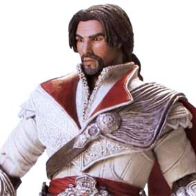Assassins Creed Brotherhood : Ezio Ivory Unhooded Action Figure