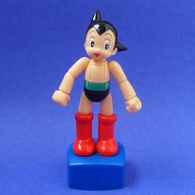Astro Boy articulado quando mexe na base
