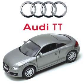 Audi TT coupe (2007) Miniaturas Motormax escala 1/24 cor grafite metálico