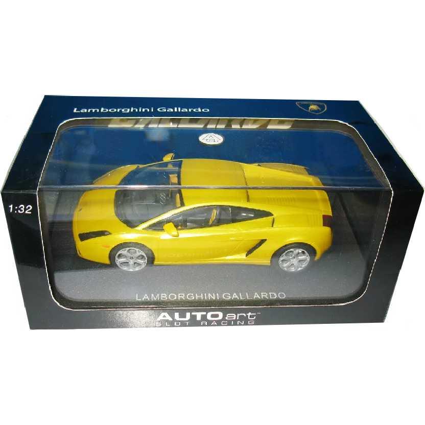 Autorama com luz marca AutoArt 13161 Lamborghini Gallardo Slot Car escala 1/32