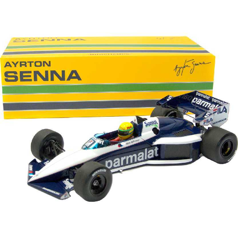 Ayrton Senna Brabham BMW BT52B (1993) Test Car Paul Ricard: Minichamps escala 1/18