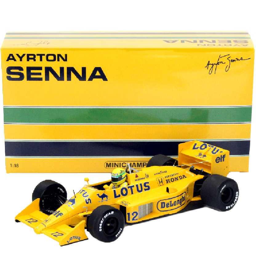 Ayrton Senna F1 Lotus HONDA 99T (1987) Minichamps escala 1/18 comprar barato no Brasil